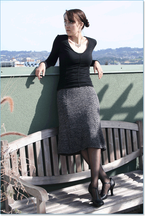 Вязаная юбка для зимы спицами - Модно в России 2014
