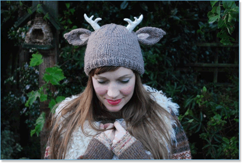 Tiny Owl Knits - Deer with Antlers Hat at Eat.Sleep.Knit ddaa6871719